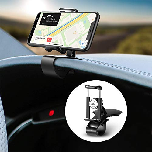 Cutier Car Dashboard Phone Holder Air Vent Mount 360 Degree Rotation Adjustable Mobile Clip Stand Suitable for 4-7 Inches Smartphones