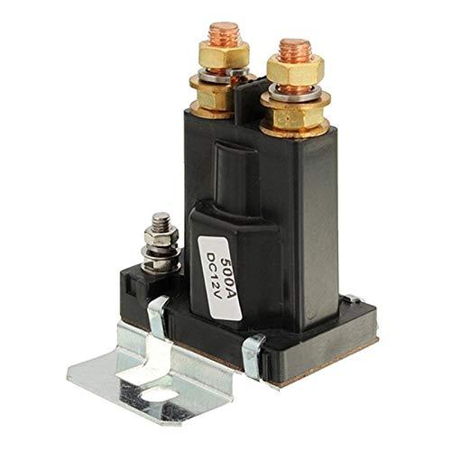 WEIJIAMY Relé de Coche Relé de aislador de batería Dual Inicio Activar/Apagado 4 Pin 500A 12V para Interruptor de alimentación de automóviles Accesorios de Bricolaje (Size : L)