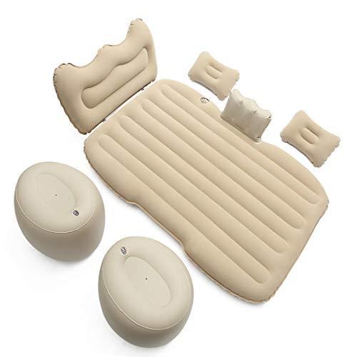 Demana Luftmatratze für Auto Aufblasbare mit Kissenauflage Universal Auto Luftmatratzen Beflockung Isomatte für Limousine SUV MVP mit Pumpe Air Bett für Reisen, Camping