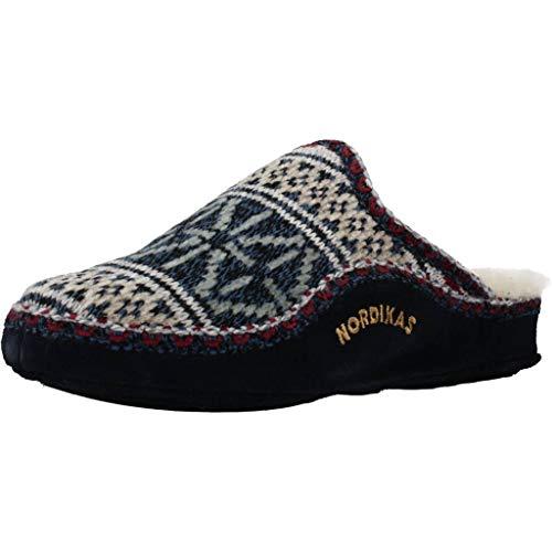 Nordikas Zapatillas Casa Mujer 1500 para Mujer Azul 37 EU