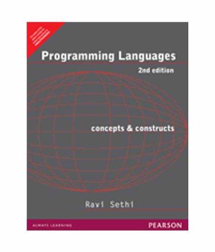 Programming Languages: Concepts & Constructs, 2e