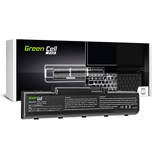 Green Cell PRO Series AS07A31 AS07A41 Battery for Acer Aspire 57xx 5735 5735Z 5736 5736Z 5737Z 5738 5738G 5738PZG 5738Z 5738ZG 5740 5740G Laptop (Original Samsung SDI Cells, 6 Cells, 5200mAh, Black)