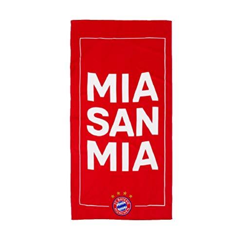 FC Bayern München Mia San Mia Strandtuch (one size, Rot)