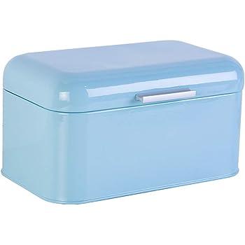 Metal Bread Box Storage Case European Style Retro Kitchen Container Solid Color JIEHED Bread Bin