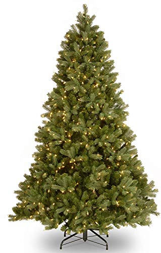 National Tree Company 'Feel Real' Pre-lit Artificial Christmas Tree | Includes Pre-strung White Lights and Stand | Downswept Douglas Fir - 6.5 ft