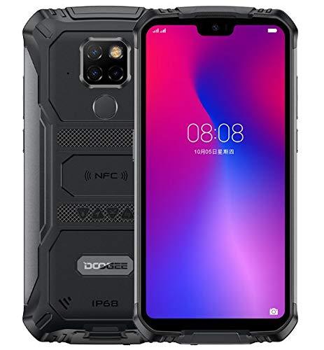 Teléfono Móvil Resistente DOOGEE S68 Pro, Helio P70 Octa Core 6GB 128GB, IP68 Smartphone Antigolpes, Batería 6300mAh (Carga Inalámbrica), Cámara 21MP + 16MP, 5.9'' FHD + Gorilla Glass 4, NFC Negro