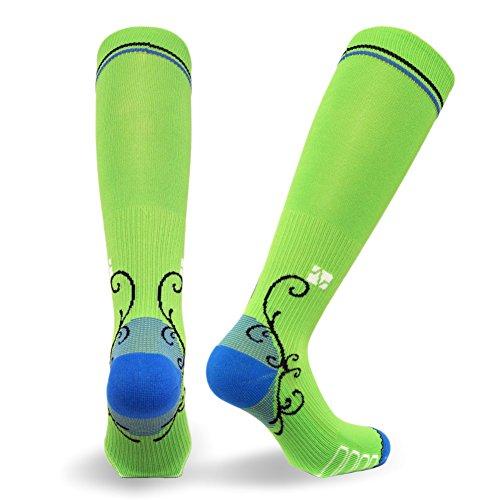 Vitalsox - Calcetines de compresión graduados italianos (1 par) para mujer, ideales para correr, viajar, yoga, enfermeras, embarazo de maternidad, Mujer, VTW 0116 Lime S, verde lima, small