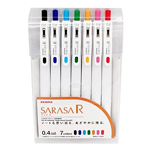 ゼブラ ジェルボールペン サラサR 0.4mm 7色セット JJS29-R1-7C