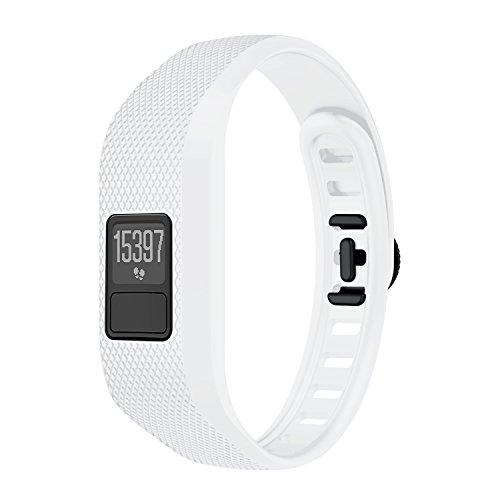 TopTen correa de reloj de silicona suave de repuesto para pulsera compatible con Garmin Vivofit 3 rastreador de actividad para niños