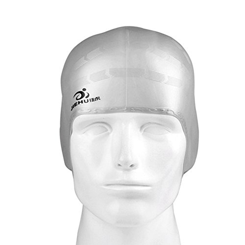 Fantastic Prices! nobran Swim Cap Silicone Swimming Pool Hat Plain Protection Ear Reduce Hair Ingres...
