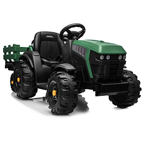 JOYMOR Ride on Tractor with Trailer, 12v Rechargeable Battery...