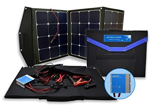 Solartasche 120W Solarmodul faltbar mit MPPT Laderegler viel Zubehör Solarkoffer