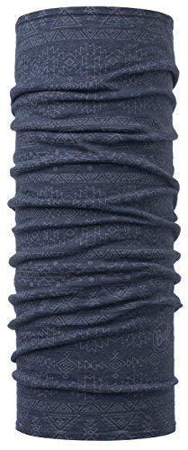 Buff Merino Schlauchschal + Ultrapower Schlauchtuch | Wintermütze | Halswärmer | Multifunktionstuch | Merino-Wolle | Patterned & Dyed Stripes EDGY DENIM - 115399.788.10.00