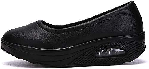 Aitaobao Damen Freizeitschuhe Leichte Keilabsatz Turnschuhe Loafers Bequem rutschfest Plateau Walkingschuhe Abnehmen Schuhe