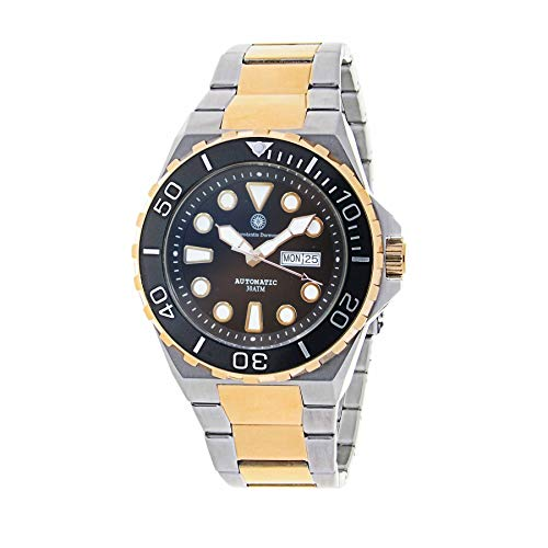 Constantin Durmont Herren Analog Automatik Uhr mit Vergoldet Armband Oceanbay Automatic 130569