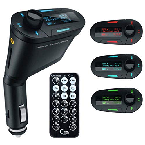 LED Car Kit MP3 Player Wireless FM Transmitter Modulator USB SD MMC w/Remote Control No Bluetooth