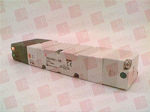 VQC4401-5B Solenoid Valve, VQC Series, 3-Position Exhaust Center Actuation, Rubber Seal