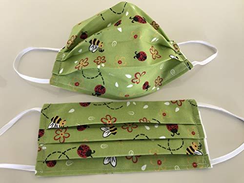 Gesichtsmaske Behelfsmaske Käfer Baumwolle Zweilagaig waschbar Handmade