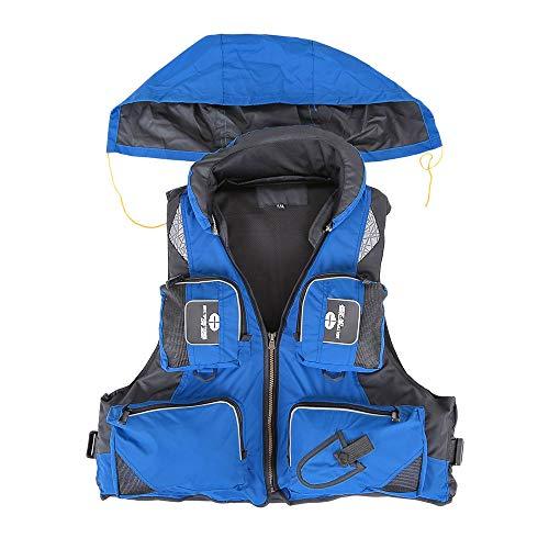 HONGHUIYANG Anglerjacke, im Freienfischen-Weste Unisex Adult Sicherheit Schwimmweste for Wassersport Driften Segeln Segeln Kajak Überleben Swimwear (Size : XL)