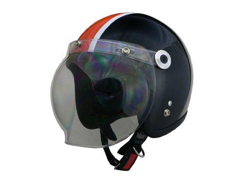 リード工業 バイクヘルメット ジェット BARTON BC-10 ブラック オレンジ フリー (頭囲 57cm~60cm未満)
