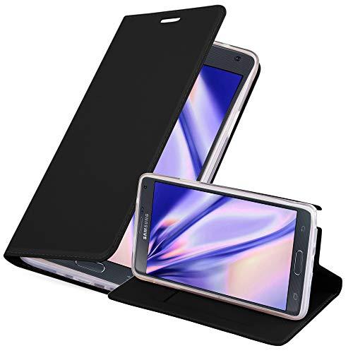 Cadorabo Funda Libro para Samsung Galaxy Note 4 en Classy Negro - Cubierta Proteccíon con Cierre Magnético, Tarjetero y Función de Suporte - Etui Case Cover Carcasa