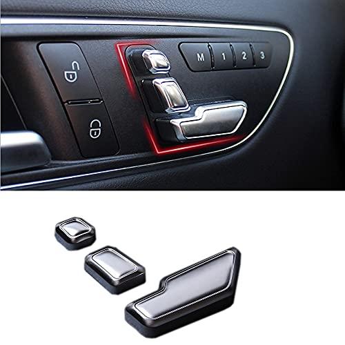 adhesivo insignia Etiqueta engomada del interruptor del asiento Compatible con Mercedes Benz W212 218 CLS GL C E Metal CHROME AJUSTE DE AJUSTE DE AJUSTE DE AJUSTE CUBIERTA ADJORTADOR Insignia Etiquet