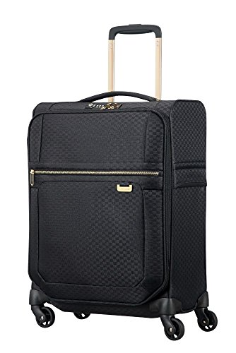 Samsonite Uplite - Spinner 55-20 Expandible 1.8 Kg Maleta, 55 cm, 43.5 L, Negro (Black/Gold)