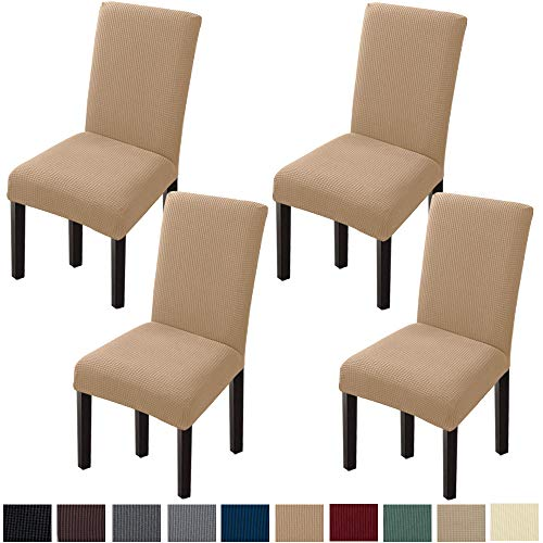 GoodtoU Chair Covers for Dining Room Chair Covers Dining Chair Covers (Set of 4, Khaki)