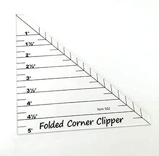 Folded Corner Clipper Quilting Templates Ruler # FCC-01
