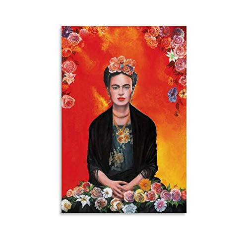 WSDSB 1 Poster sur toile rétro esthétique Frida Kahlo 30 x 45 cm