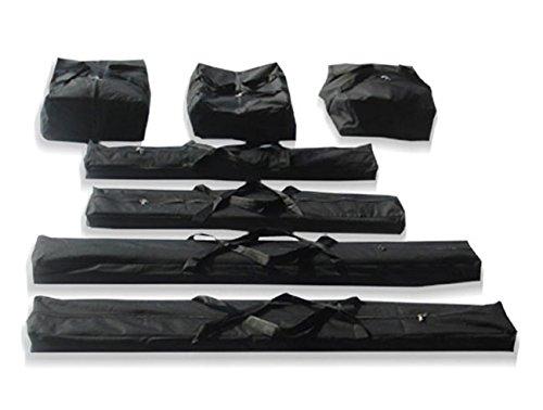 TOOLPORT Taschenset -Taschen Zelt- Gestängetaschen 5 m für Economy Zelte für Pavillon Partyzelt - 7 Stück Tragetaschen Transporttaschen