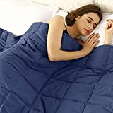 Beldora Luxury Weighted Blanket Anti-Allergy Anti-Bacterial Help Anxiety Autism Depression Stress Insomnia Mental Health Aid Sleep Therapy Adults, Kids, Teenagers (Blue, Small 100x150cm (3.6kg) 8lb)