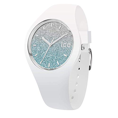 Ice-Watch - ICE lo White blue - Weiße Damenuhr mit Silikonarmband - 013425 (Small)