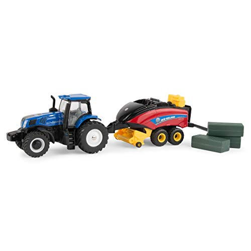 1/64 New Holland T8.380 Tractor with 330 Big Square Baler with 3 Bales - ERTL 13948