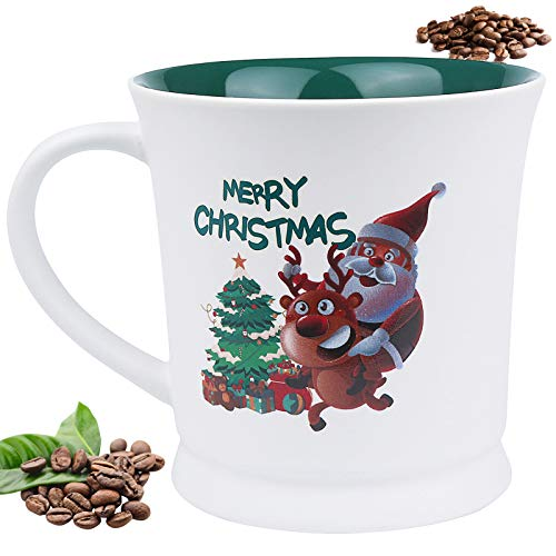 ApePal Christmas Coffee Cup, 17 oz Coffee Mug, Funny Cup with Handle, Happy New Year Coffee Cup Best Gifts(A)