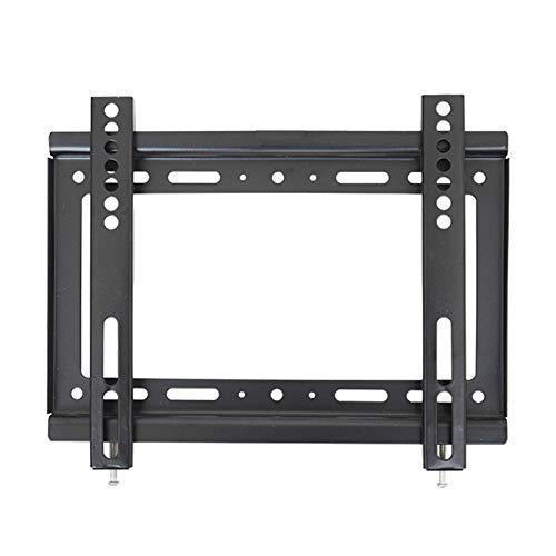 TabloKanvas Altura del Soporte de la TV es Ajustable y Retráctil Adecuada para Monitores de TV LCD de Pantalla Plana. (Cor : Black)