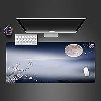 モダンな抽象スタイルのオフィスマウスパッド 天然ゴムパッド、洗えるPCゲーム、スタイリッシュな大きなゲームテーブルマット 快適なマウスパッド (Size : 250x350x2mm)
