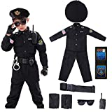 Halloween Police Costume for Kids Deluxe American Officer Cop Toddler SWAT Role Play Kit