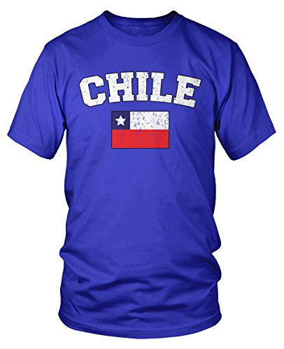 Amdesco Men's Chilean Flag, Flag of Chile T-shirt