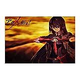 Anime Akame Ga Kill Akame Cool Canvas Poster Decoración Dormitorio Deportes Paisaje Oficina Decoración Regalo 40 × 60 cm Unframe-style1