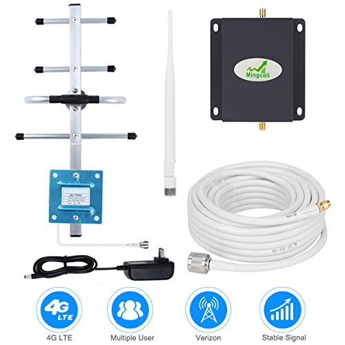Cell Phone Signal Booster Verizon 4G LTE Cell Phone Signal Amplifier Mingcoll 700MHz Band 13 Verizon Signal Booster Repeater for Home and Office