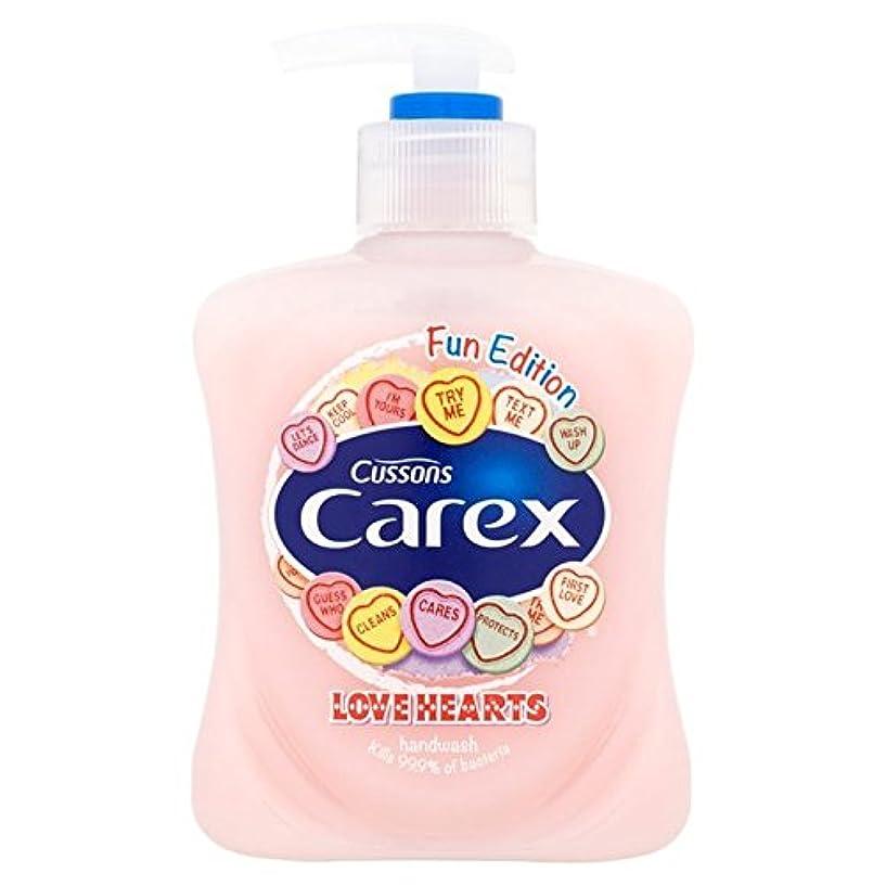 刺繍説明する債権者Carex Fun Edition Love Hearts Hand Wash 250ml - スゲ楽しい版愛の心のハンドウォッシュ250ミリリットル [並行輸入品]