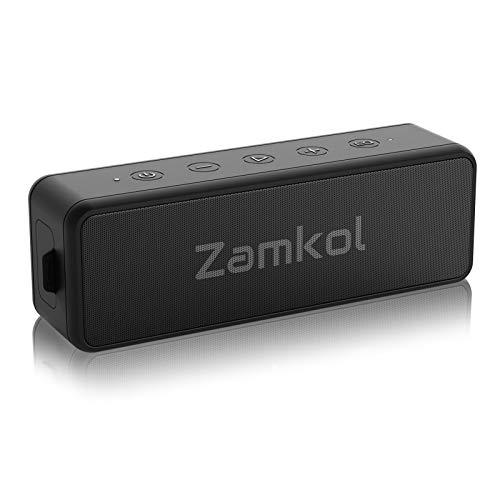 Enceinte Bluetooth, Zamkol Enceinte sans Fil 20W, Stéréo HD, Autonomie de 24 Heures, IPX7 Étanchéité, Bluetooth 5.0, TWS Enceinte Bluetooth Portable Microphone Intégré pour La Maison à L'extérieur
