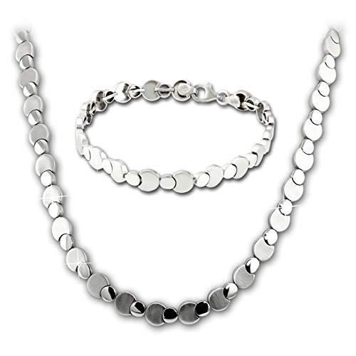 SilberDream Circles Collier und Armband Damen Schmuck-Set 925er Silber SDS474J Silber Schmuckset