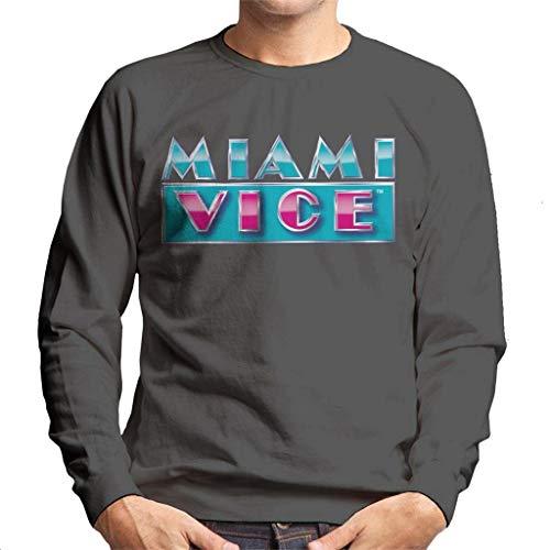 Miami Vice Reflective Logo Men's Sweatshirt