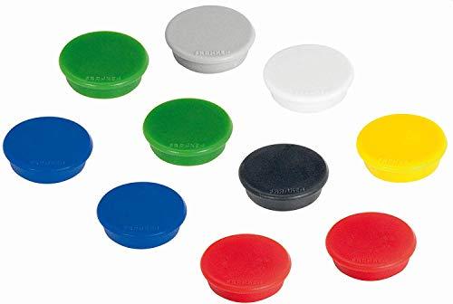 Franken HM30 99 Magnet (32 mm, 800 g) 10 Stück farblich sortiert