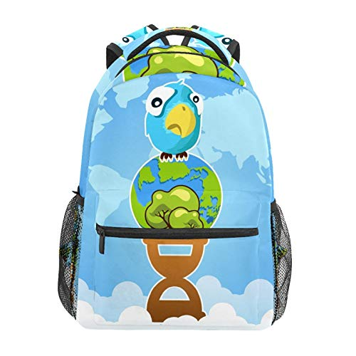 School Backpack Earth Hour Save Earth Save Planet Casual Travel Laptop Daypack Canvas Book Bags for Woman Girls Boys Student Adult Men