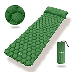 Deeplee Camping Sleeping Mat, Single Sleeping Mat Ultra-Light Sleeping Pad for Outdoor, Dampproof for Hiking, Backpacking, Camping, Beach (Green)
