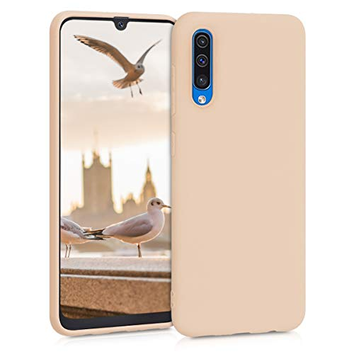 kwmobile Hülle kompatibel mit Samsung Galaxy A50 - Hülle Silikon - Soft Handyhülle - Handy Hülle in Perlmutt