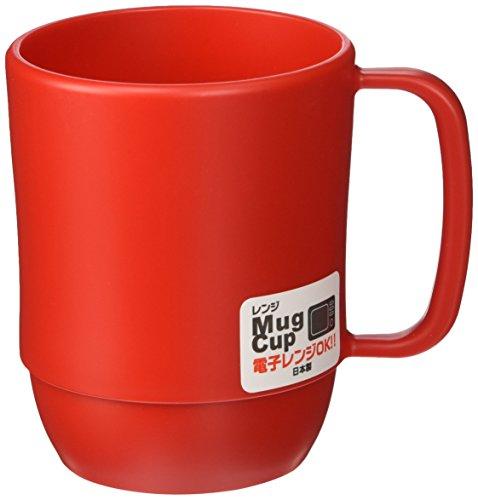 Japanese Microwavable Water Mug Unbreakable Milk Juice Mug for Kids Camping Travel Water Tea Coffee Mug 12 ounce BPA Free Non-Toxic Dishwasher Safe Made in Japan, Red